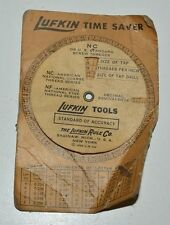 Vintage 1935 LUFKIN Paper Time Saver Standard of Accuracy for Drills Taps Rare