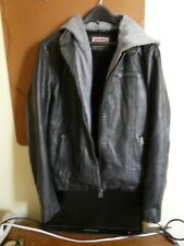 GENUINE MENS LEVIS Faux Leather, Lined, Hooded Jacket; Sz S