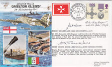 Siege of Malta Signed J.K.Norwell Battle of Britain & Malta pilot A Saunders in