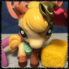 LITTLEST PET SHOP BROWN CREAM & YELLOW PONY 1629 COLLECTOR DIARY HORSE