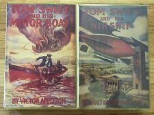 TOM SWIFT Victor Appleton Airship Motor Boat Applewood Reprints HB/DJ 1st