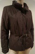 JOSEPH Brown Cotton Blend Funnel Neck Belted Casual Padded Jacket FR40 UK12