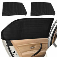 2x Car Rear Side Window Socks Sun Shade Mesh SUV UV Mesh Protection Pro.w/ M5O9