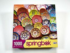 Springbok Carefully Crafted Jigsaw Puzzle 1000 Pieces Colorful Plates NEW