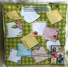 MAGNETIC MESSAGE BOARD WALL Hangs with 6 MAGNETS Notes Photos Lists HOUSE TEAPOT