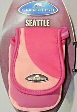 PINK Padded Compact Camera Case/Pouch, Lanyard Belt Hook & Loop 10 x 6.5 x 3cm