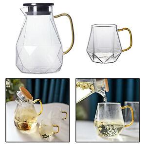 Diamond Texture Transparent Carafe Water Jug for Coffee Juice Iced Tea