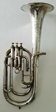 More details for besson prototype tenor horn in silver - stage prop - spare parts - display