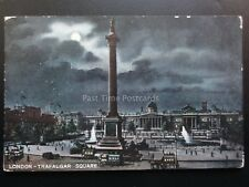 London: BY MOONLIGHT Trafalgar Square c1906 by C.M. & Co Ducal Series