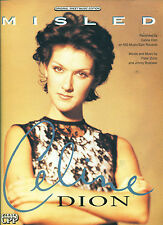 "CELINE DION ""MISLED"" PIANO/VOCAL/CHORDS SHEET MUSIC RARE 1993 RARE COLLECTIBLE!!"