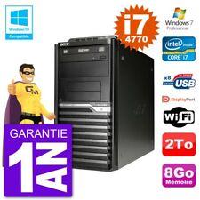 PC Acer Veriton M4630G MT i7-4770 RAM 8Go Disque Dur 2To Graveur DVD Wifi W7