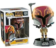 "EXCLUSIVE STAR WARS REBELS MASKED SABINE 3.75"" VINYL POP FIGURE 131"