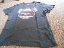 Men's Vintage Inspired Sz M Lucky Brand ShortSleeved Dark Gray Motorcycle Shirt