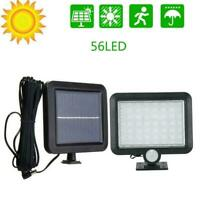 56LED Solar Flood Light PIR Motion Sensor Wall Light Lamp Outdoor Garden W4O4
