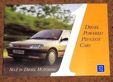 1993-94 PEUGEOT DIESELS Sales Brochure - 106 205 306 405 605