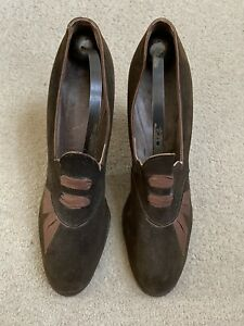 RARE Pair Vintage 1930s Selby Shoes Brown Old Size 5AA With Vintage Shoe Trees