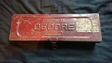 Vintage original GEDORE withworth Tool Box Ring Spanner Set