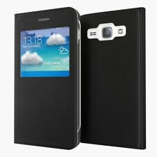 Smart View Leather Window Flip Case Stand Book Cover For Samsung Galaxy J3 2016