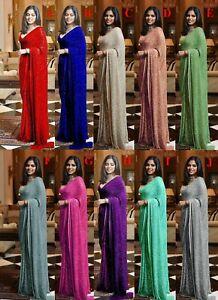 Sizzling Sequin Sarees Designer Sequence Work Sari Pakistani Silk Saree Bridal