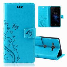 Sony Xperia XZ2 Compact Handy Tasche Handyhülle Schutz Hülle Blumen Flip Cover
