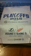 TAMPA BAY LIGHTNING DETROIT RED WINGS 2015 Playoff Round 1 Game 5  Programs