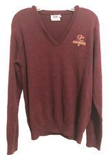 Oaks Christian School Lions Mills V-Neck Maroon Sweater Embroidered Logo Medium