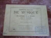 Libro 1ères Nozioni Di Musica A.Savard / Girod A Parigi/32ème Edizione/Musica