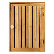 Bamboo montado en la Pared Llave Caja Y Soportes Armario Ganchos Soporte armario de almacenamiento