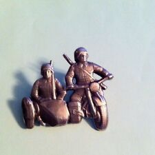 WW II  GERMAN ARMY MOTORCYCLE AND SIDECAR PIN