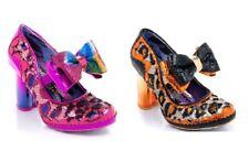 Irregular Choice ''Bowtasing'' Heart Heel sequin Bow Shoes - 2 Colours