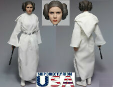 1/6 Princess Leia Head Sculpt Costumes Set For STAR WARS For PHICEN HotToys USA