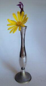 Flower Vase. Metal Pewter. For Single Flower. Really Pretty