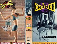 crunch  FAT BLASTER PLUS / TAE BOXING / MASTER CLASS AEROBICS VHS VIDEOTAPE LOT