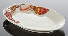 BASSANO ovaler Servierteller Wurstdekor Ausgefallene italienische Keramik 30x20