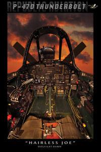 P-47D Thunderbolt Cockpit Poster