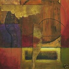 "35""x35"" OPULENT RELIEF II by MIKE KLUNG ABSTRACT CANVAS"