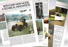 Vintage CITROEN History Article / Photos / Pictures: 5CV,DS19,SM,G