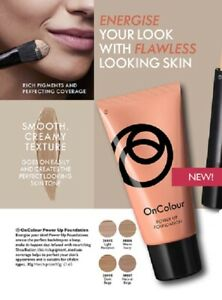 ORIFLAME ON COLOUR POWER UP FOUNDATION - 4 SHADES AVAILABLE - NEW