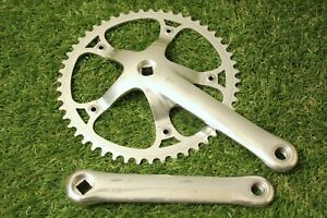 Campagnolo C-Record Pista Crankset 170mm 51t 144mm BCD Silver Track Fixed Campy