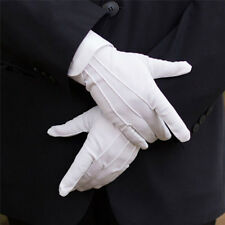 2PCS White Formal Gloves White Honor Guard Parade Santa Women Men Inspection 7U