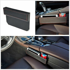 Black PU Leather Car Vehicle Seat Gap Slit Pocket Storage Leak-proof Catcher Box