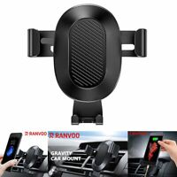 RANVOO Auto-Clamping Air Vent Car Mount Holder For iPhone XR XS Samsung S10 Plus