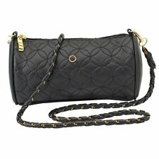 NWT Embassy Black Faux Leather Quilted Evening Purse Shoulder Crossbody Bag GIFT