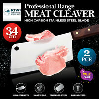 KIWI® 2PK Meat Cleaver Knife Stainless Steel Chef Butcher 34cm