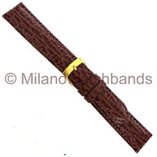 20mm Milano Brown Shark Grain Genuine Leather Mens Band Reg 831 With Defect