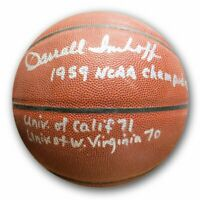 Darrall Imhoff Signed Autographed Basketball Inscribed w/Stats Knicks Lakers COA