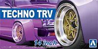 Aoshima 53867 1/24 The Tuned Parts No.53 TECHNO TRV 14inch Tire & Wheel Set F/S