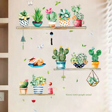 Garden Plant Bonsai Flower Butterfly Wall Stickers Home Decor Room Kitchen 2019