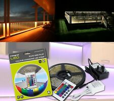 RGB LED Colour Changing Plinth Lights Decking Garden Kitchen Deck lighting 5M