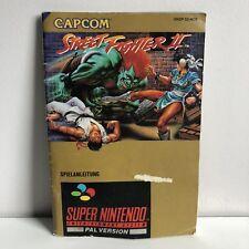 Super Nintendo Streetfighter 2 GERMAN Manual / Booklet